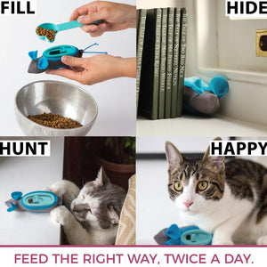 Indoor Hunting Feeder For Cats - Food Feeder + Puzzle