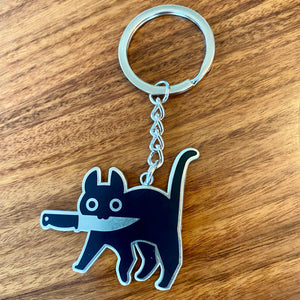"""Knife Cat"" - Keychain"