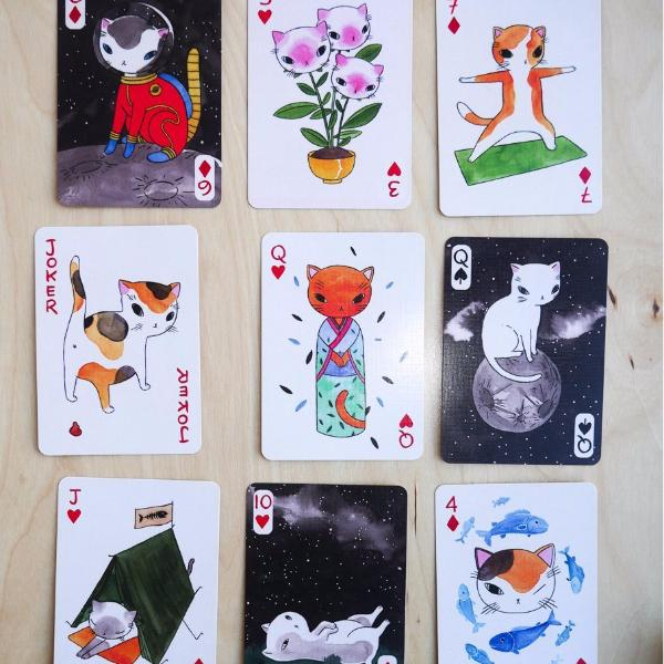 Cat Playing Card and Oracle Deck