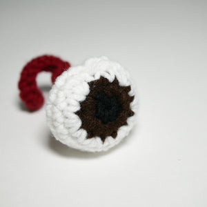 Crocheted Eyeball Catnip Toy