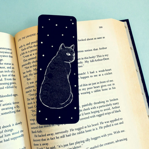 """Moon Phase Cat"" Bookmark"