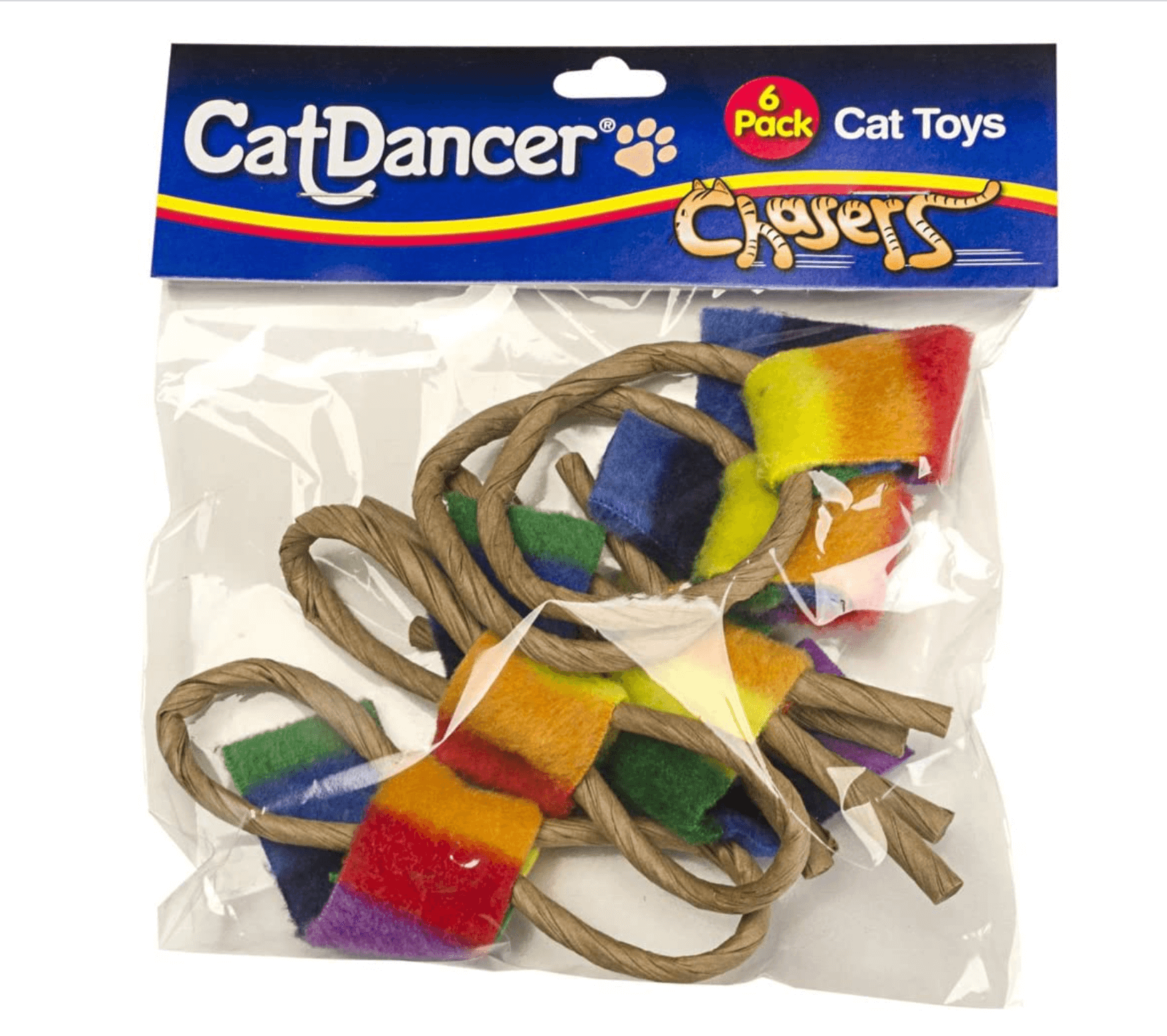 """Rainbow Chasers- 6 pack"" - Cat Toy"