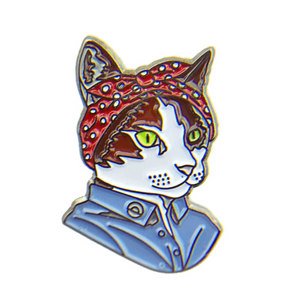 """Feminist Cat"" - Enamel Pin"