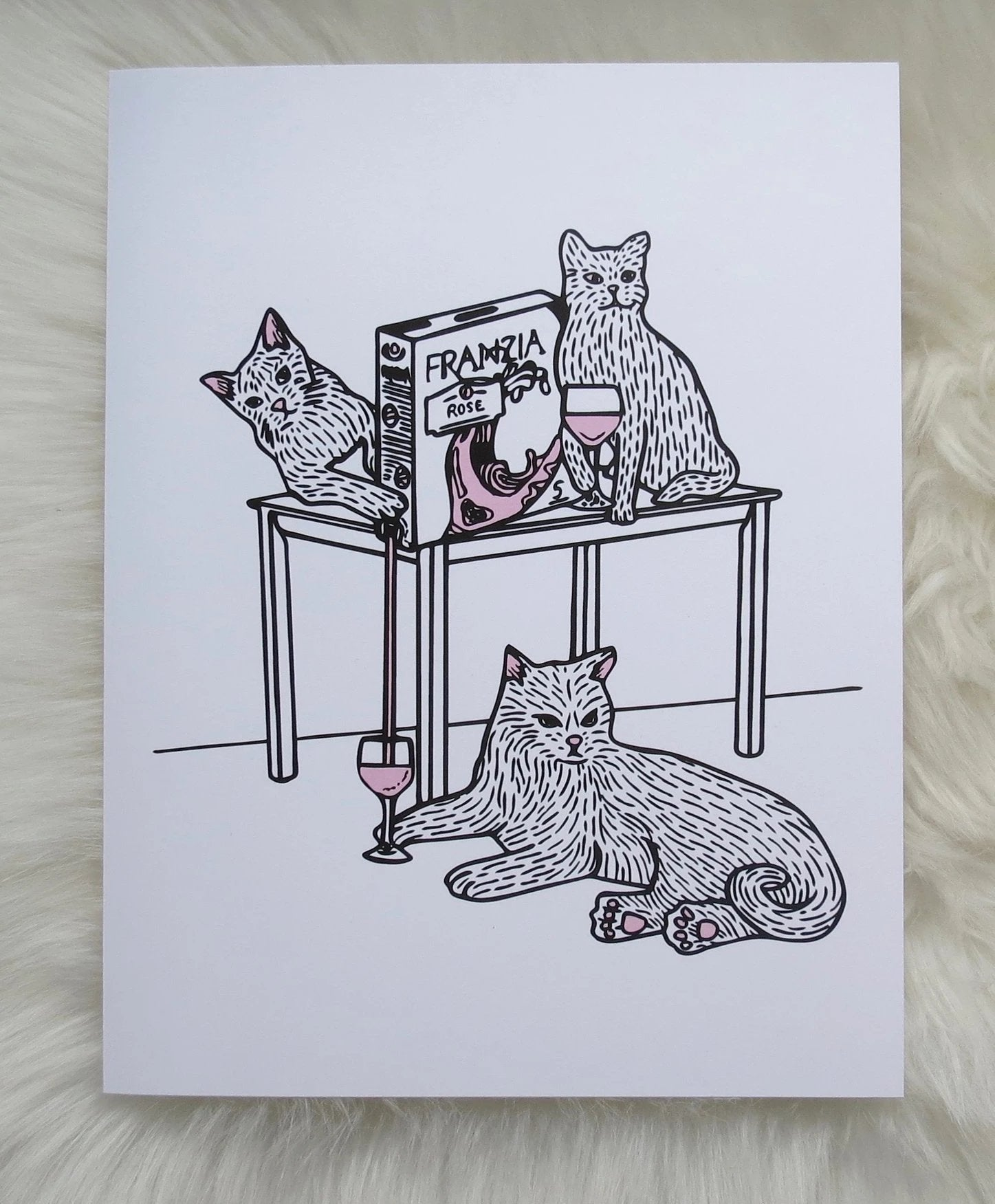 """Franzia Cats"" - Art/Print"