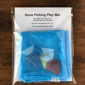 """Gone Fishing"" - Catnip Play Mat"
