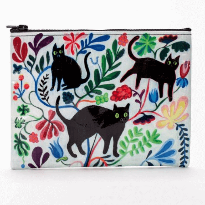 """Felines, Flora and Fauna"" - Zipper Pouch"