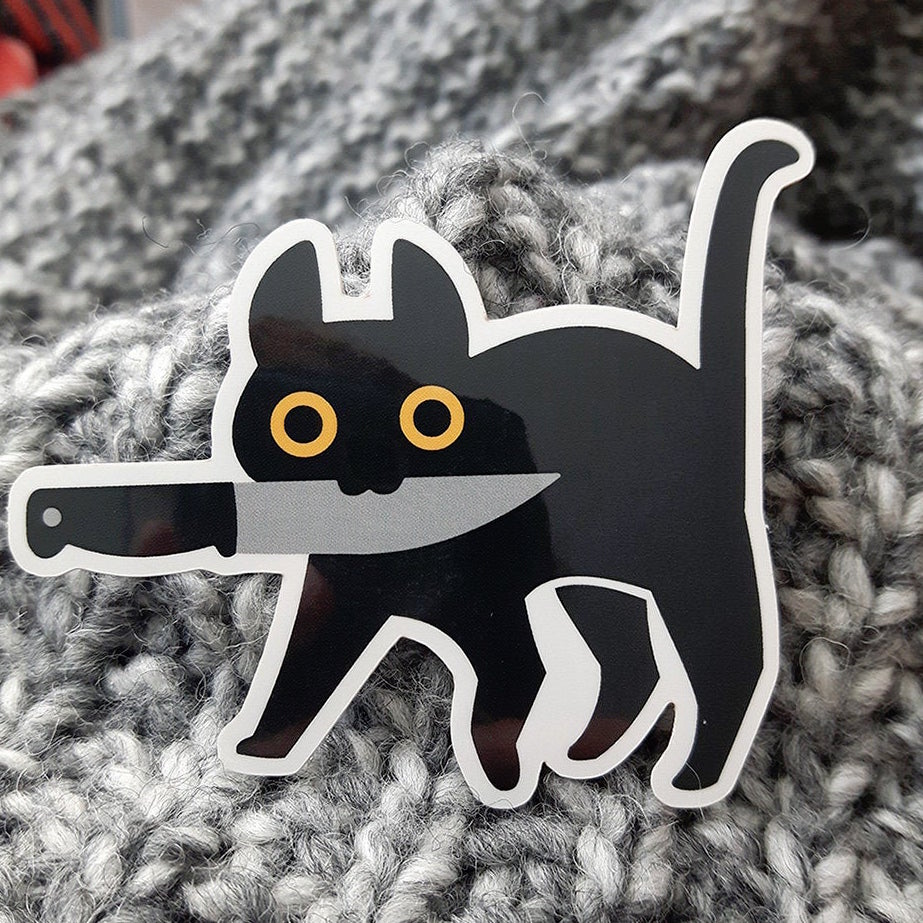 """Knife Cat"" - Sticker"