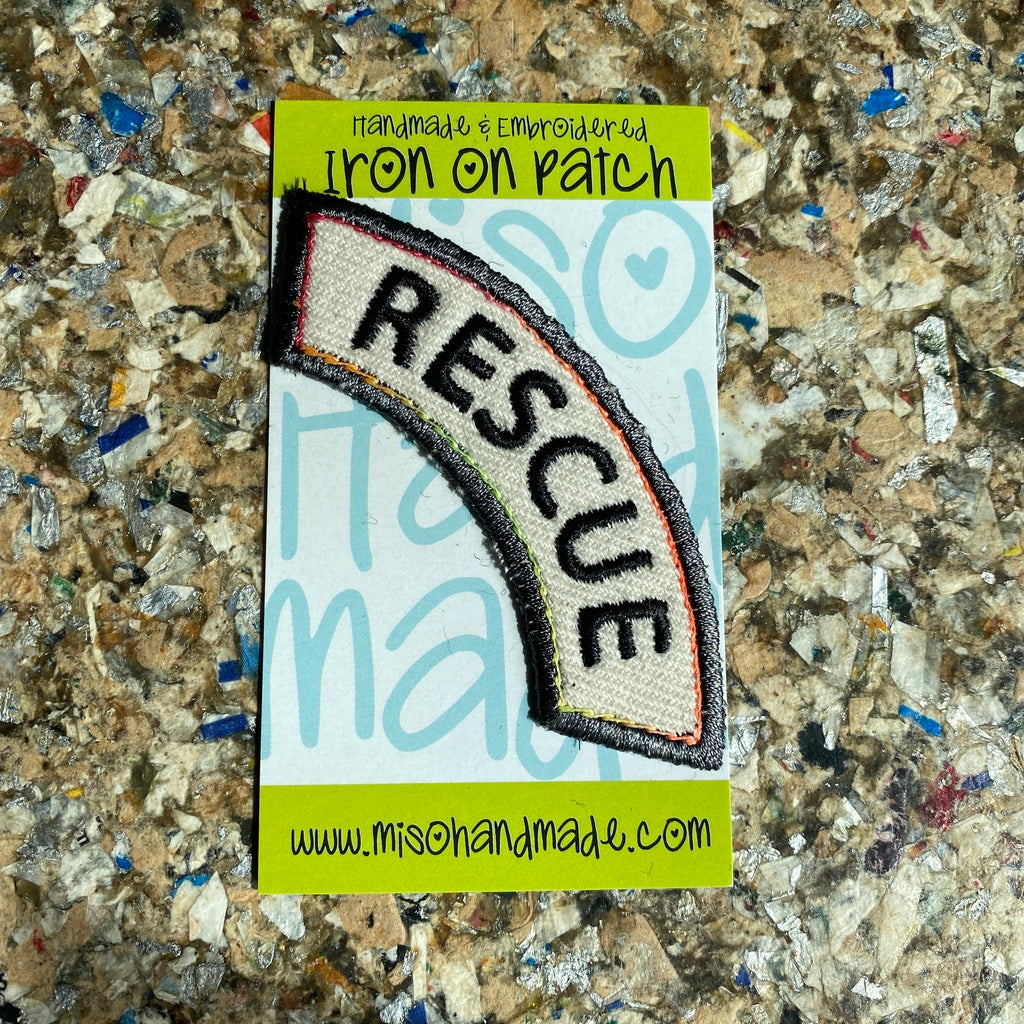"""Rescue"" - Iron-On  Patch"