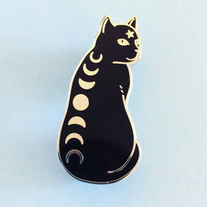 """Moon Phase Cat"" - Enamel Pin"