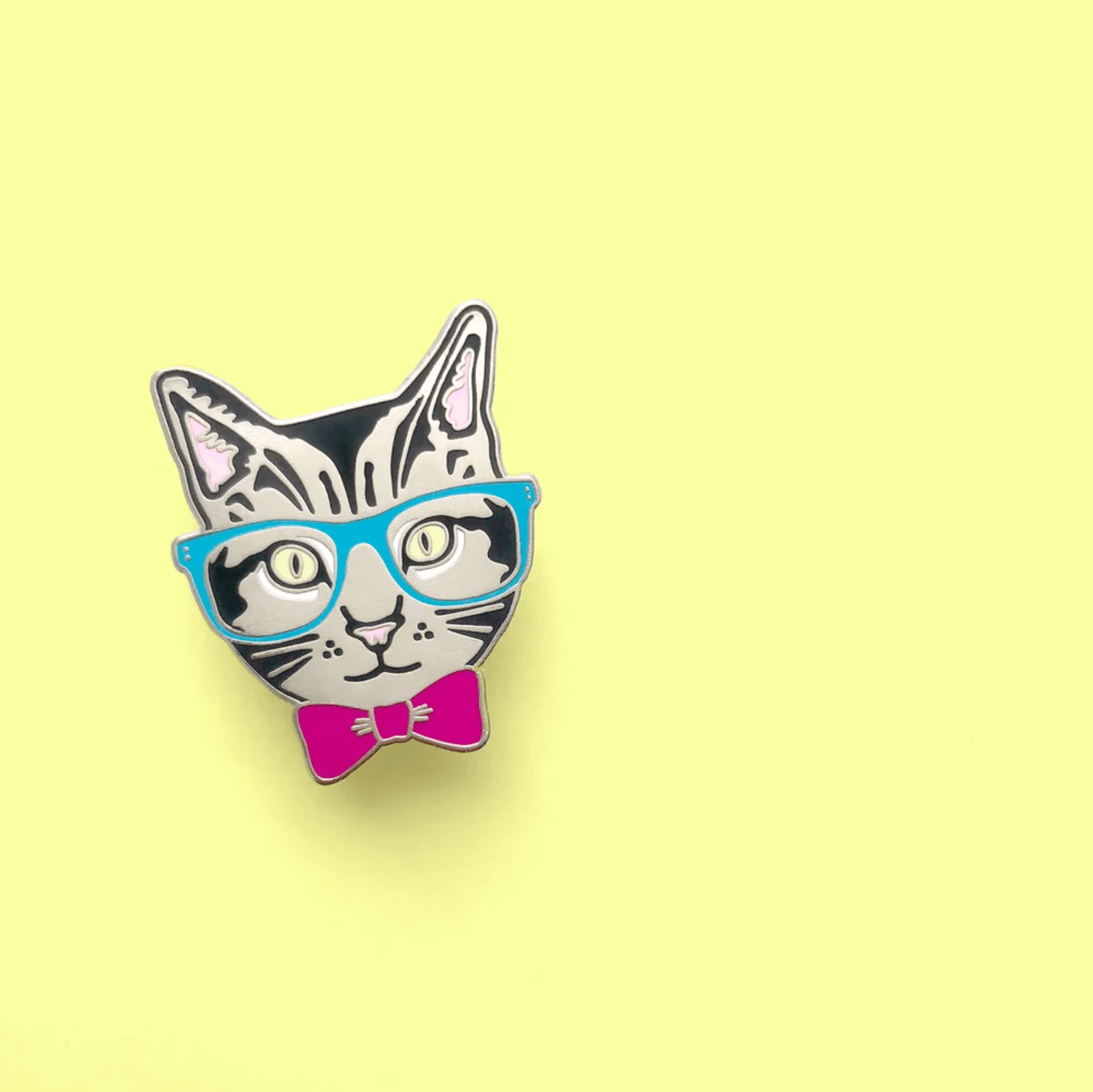 """Nerd Cat"" - Enamel Pin"