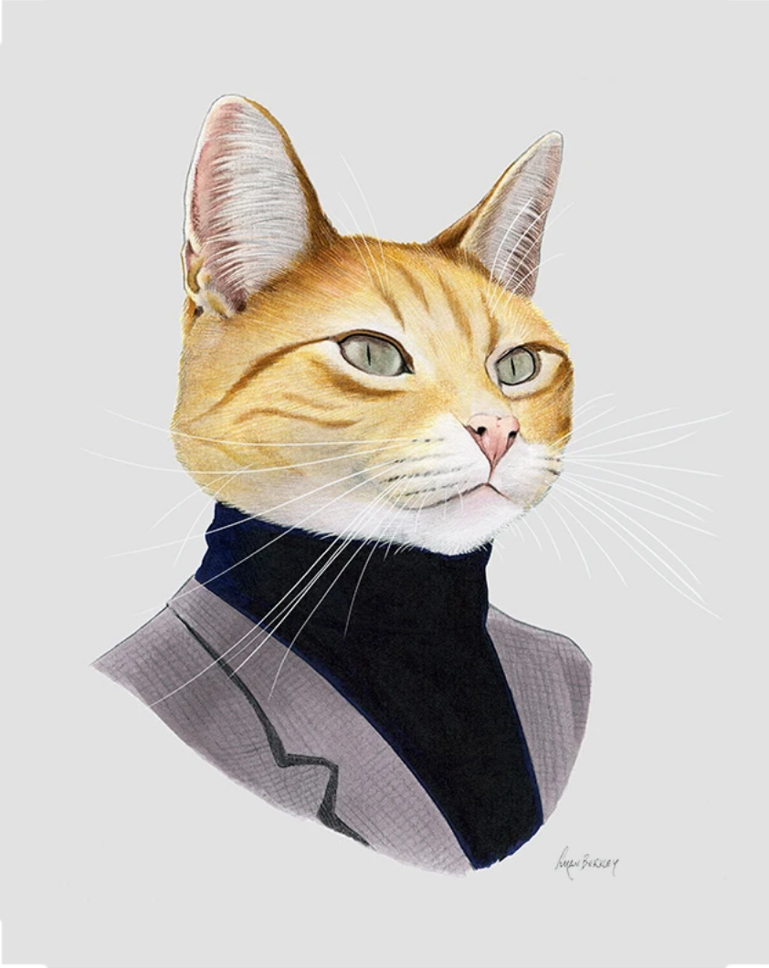"""Orange Cat Gentleman"" - Cat Art Print"