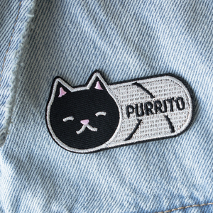 """Purrito"" - Embroidered Patch"