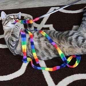 Rainbow Cat Charmer Wand Toy