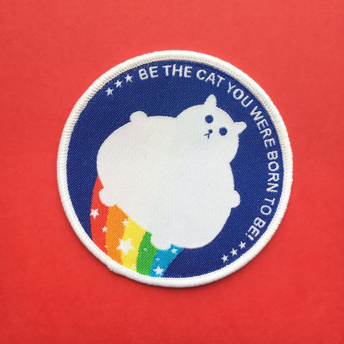 "Rainbow Cat Patch - ""Be The Cat You Were Born To Be"""