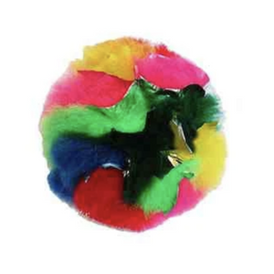 """Rainbow Crinkle Puff Ball"" - Cat Toy"
