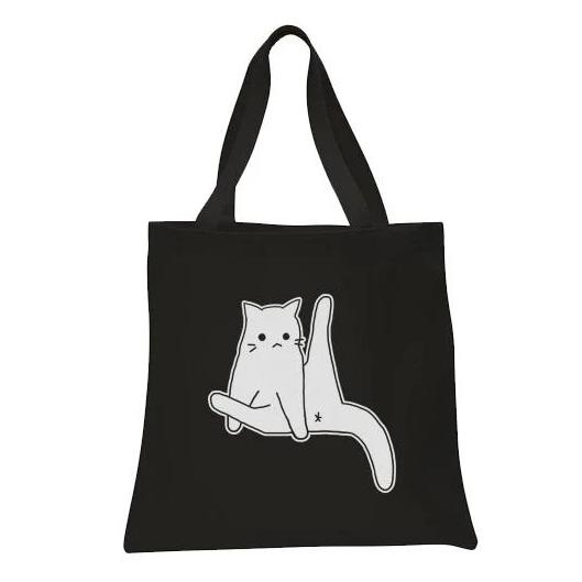 """Straight Up Cat Leg"" Tote Bag"