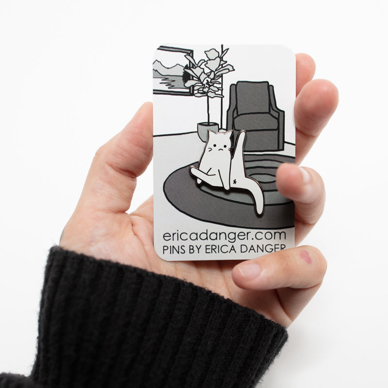 """Straight Up Cat Leg"" Enamel Pin"