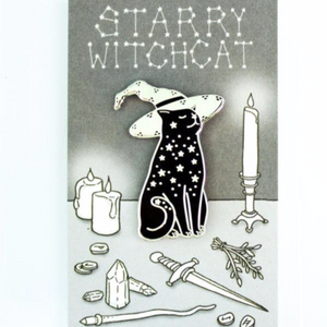 """Starry Witchcat"" - Enamel Pin"