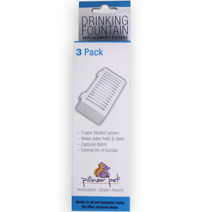 "3-Pack of Replacement Filters - ""Swan"" Drinking Fountain"