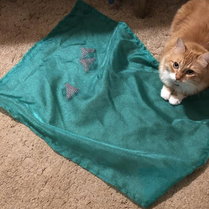 """Strawberry Patch"" Play Mat - Cat Toy"
