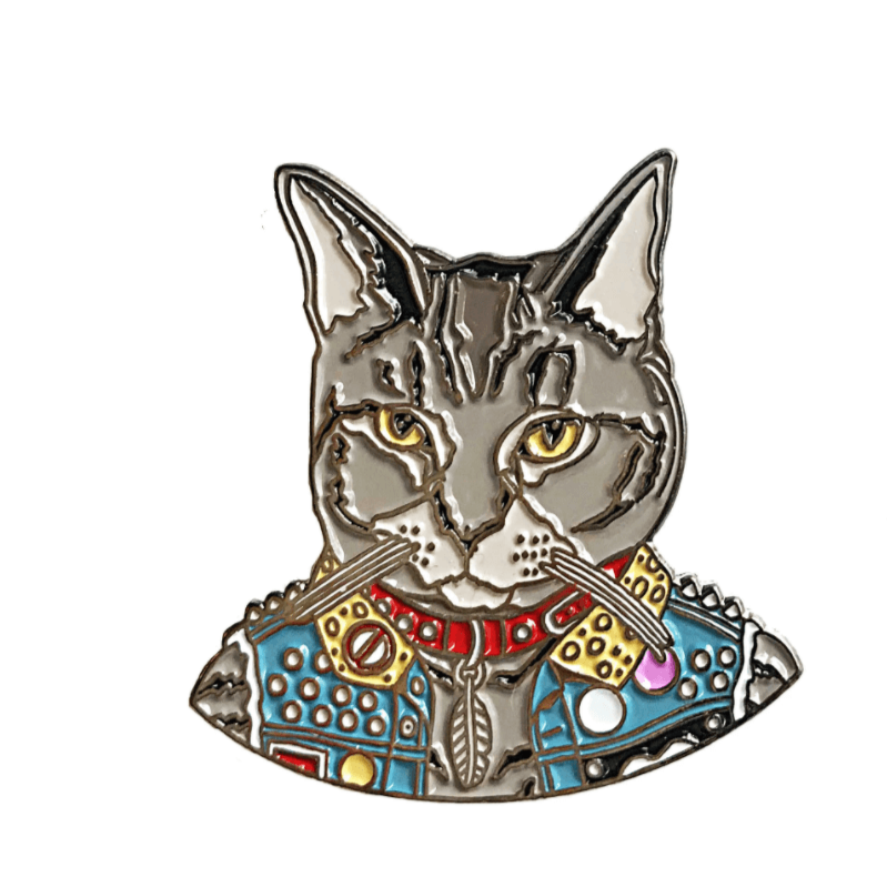 """Punk Cat"" - Enamel Pin"