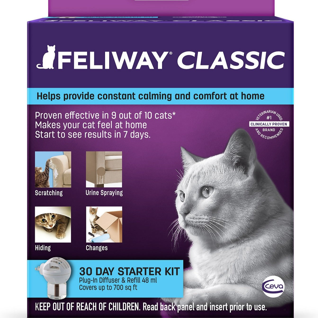 Feliway Classic - 30 Day Starter Kit Plug-In Diffuser & Refill, 48-mL