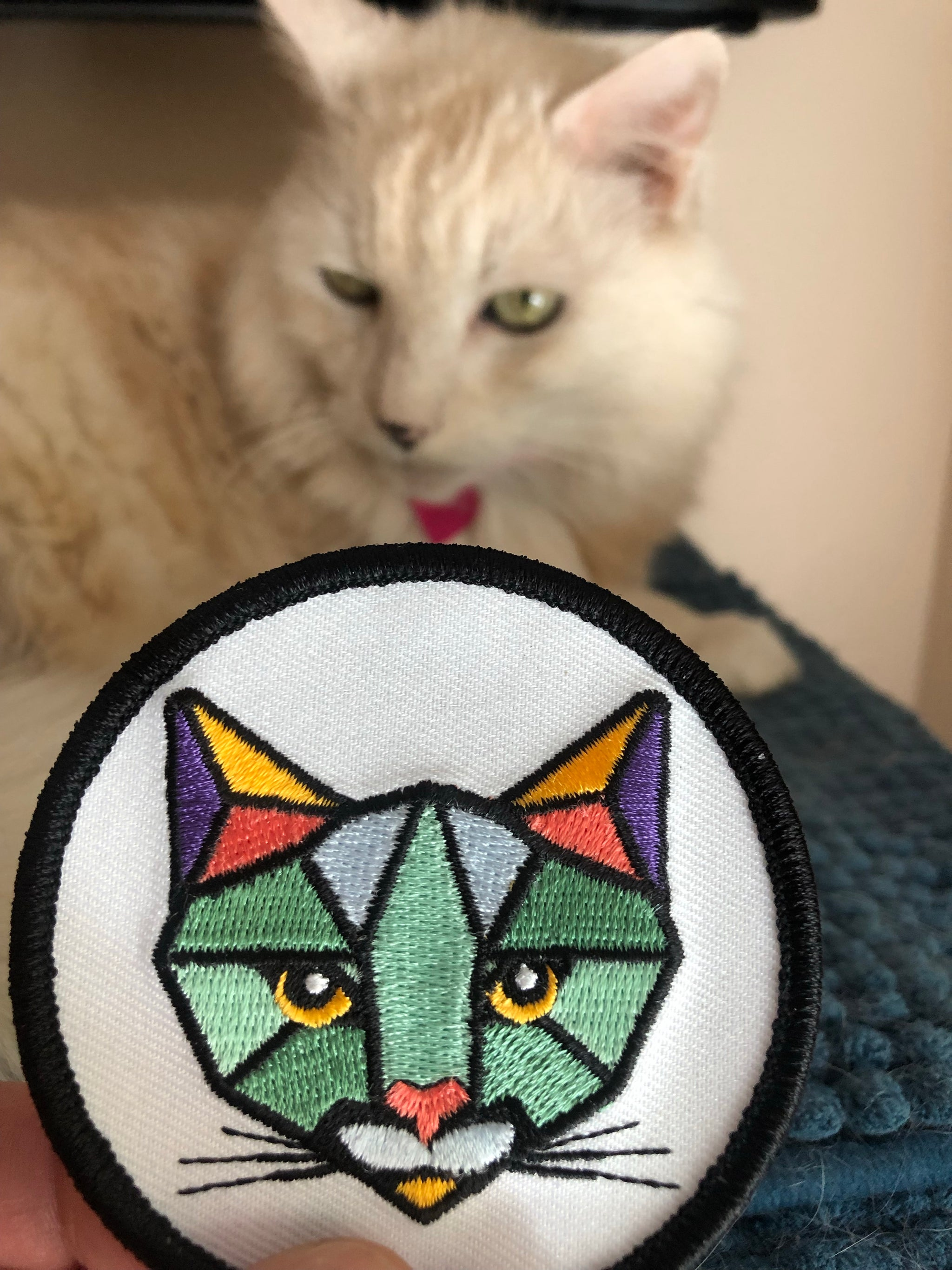 Cat embroidery patch 6 options