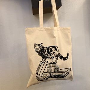 """Cats & Books"" - Tote Bag"