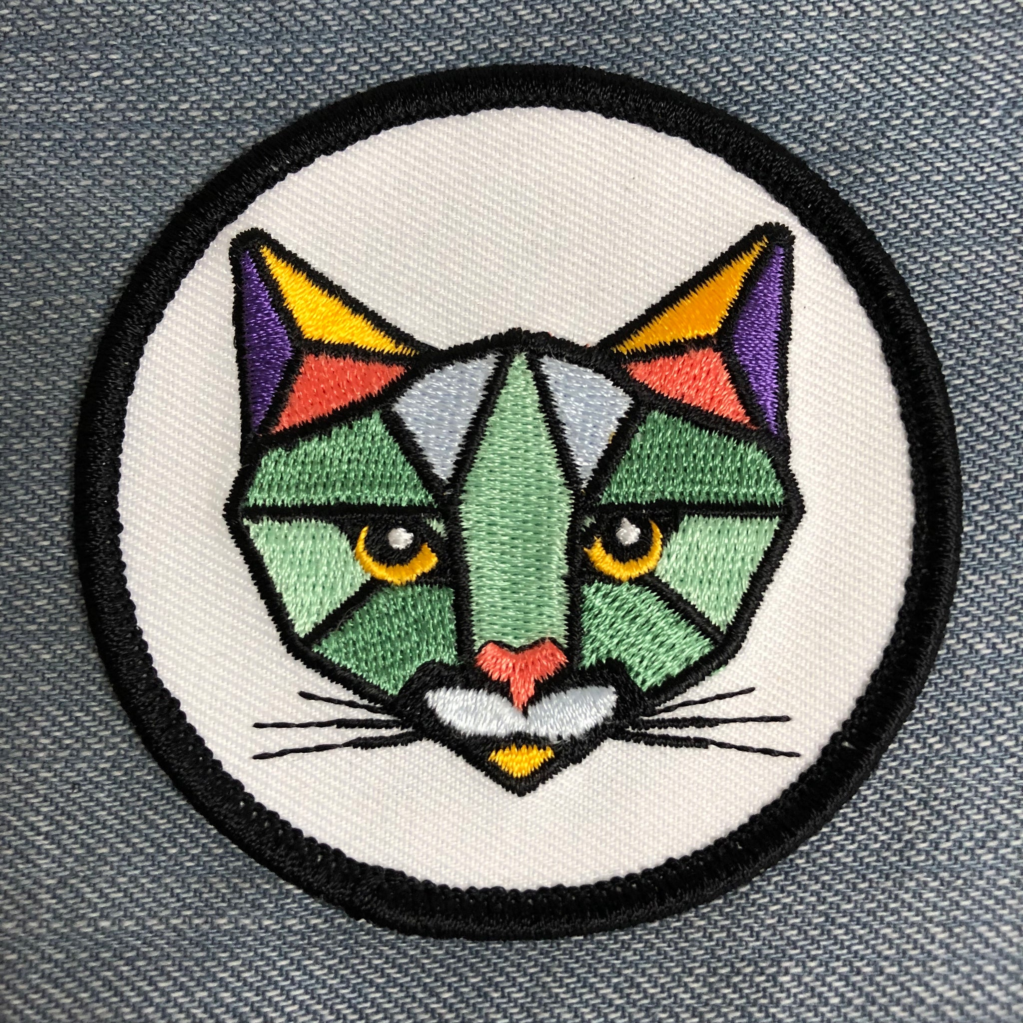 ROAR Patch - Geometric Cat