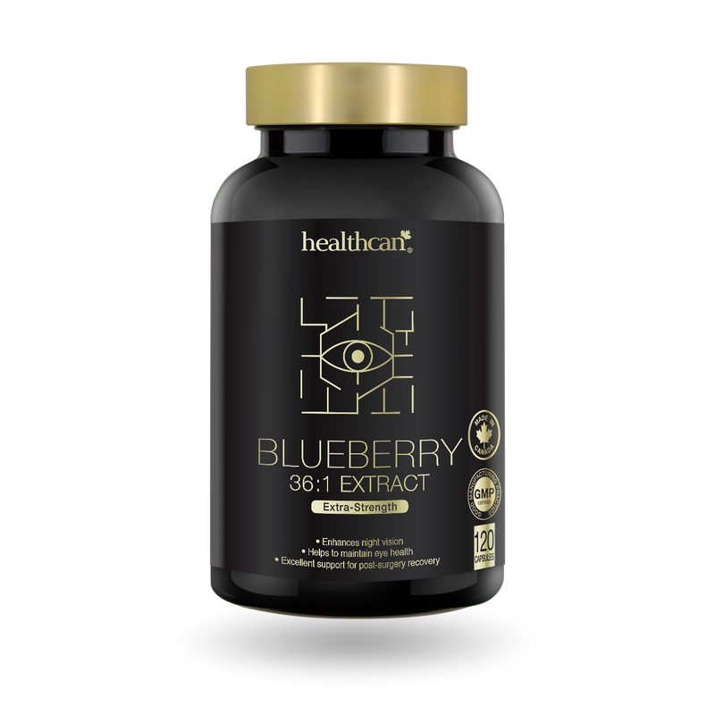 HealthCan Blueberry 36:1 Extract 120 Capsules