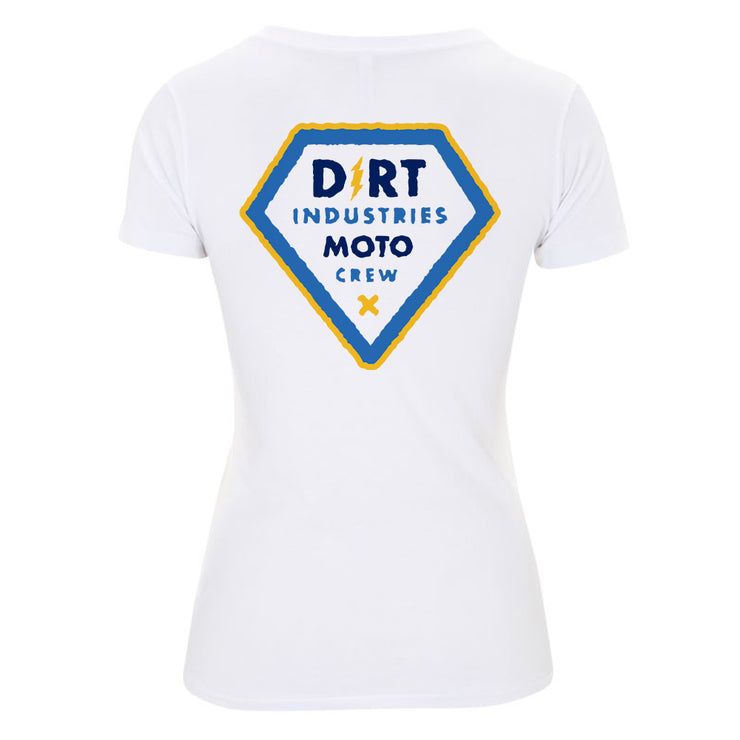 Womens Moto Crew T-Shirt - Dirt Industries - Motocross Offroad Casual Clothes
