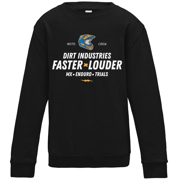 Louder x Faster Sweatshirt - Youth - Dirt Industries - Motocross Offroad Casual Clothes