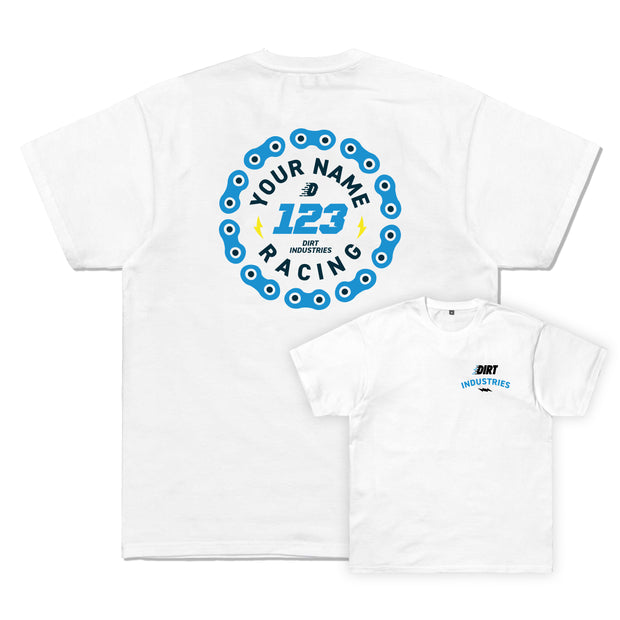 DIRT ID - Custom Race Emblem Tee - Dirt Industries - Motocross Offroad Casual Clothes