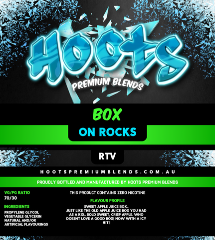 Hoots Premium Blends - Box On Rocks