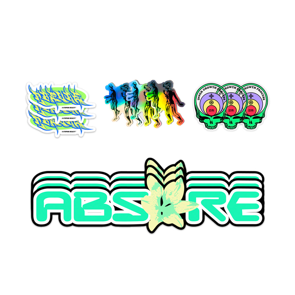 AUTUMN '20 ''VIRTUAL RAVING'' STICKERS PACK - ABSÜRE CLOTHING