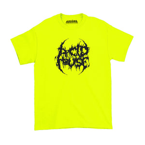 ACID HOUSE - DEATH METAL SAFETY GREEN T-SHIRT - ABSÜRE CLOTHING