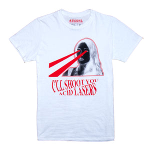 ACID LASERS WHITE T-SHIRT - ABSÜRE CLOTHING