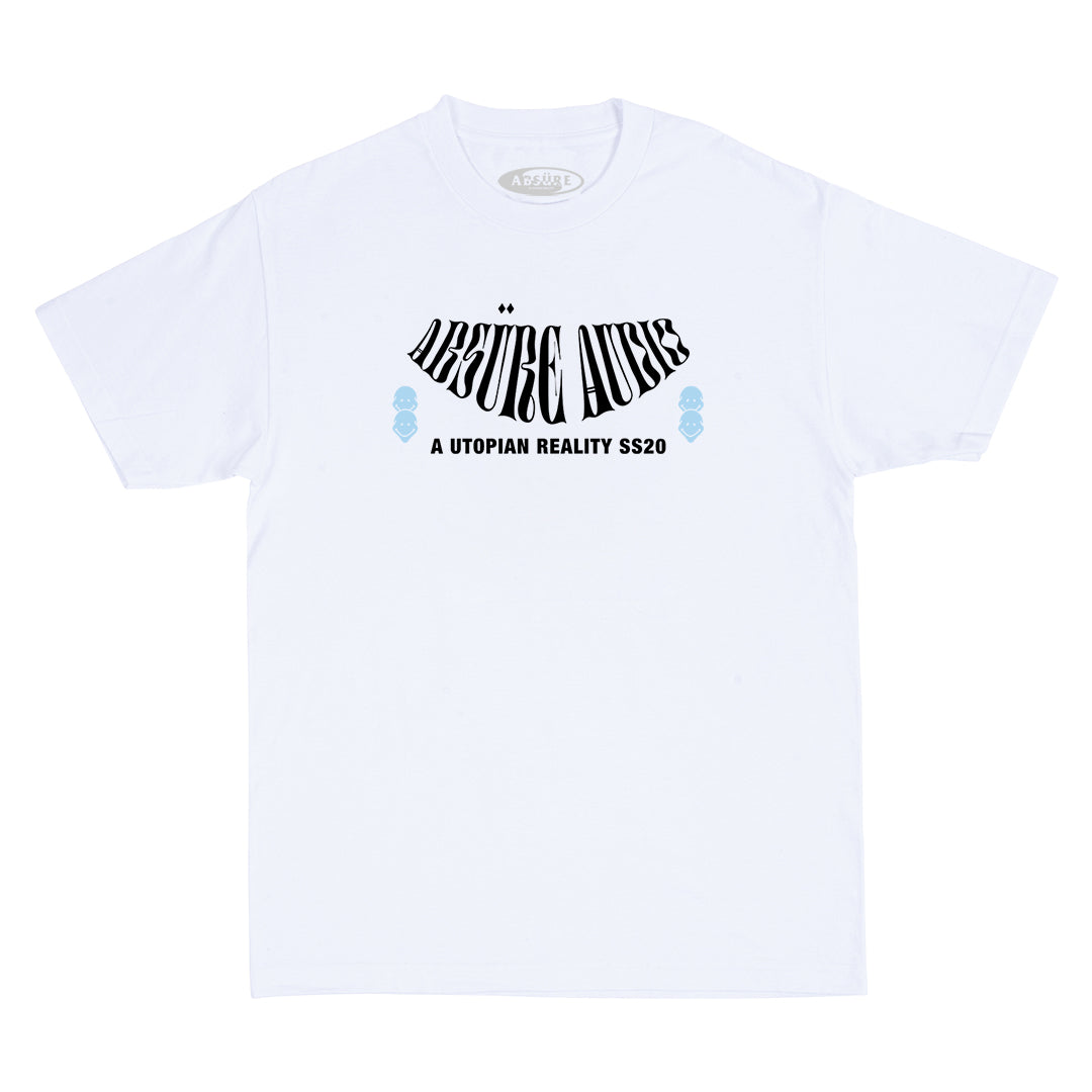 ABSÜRE AUDIO WHITE T-SHIRT - ABSÜRE CLOTHING