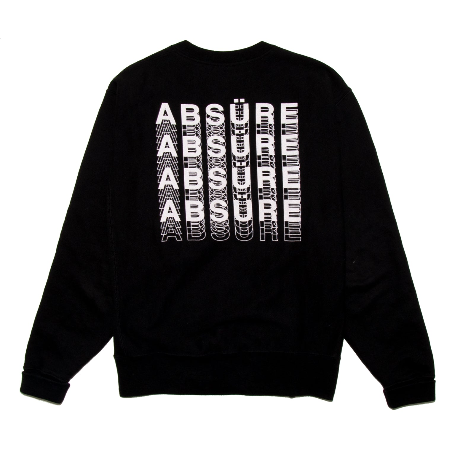 LOGO PATTERN REVERSE WAVE CREWNECK - ABSÜRE CLOTHING
