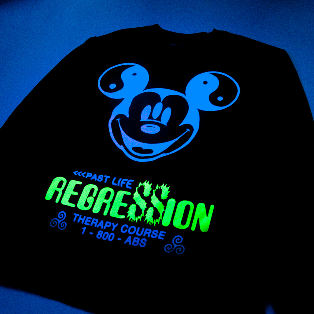PAST LIFE REGRESSION UV REACTIVE LONG SLEEVE - ABSÜRE CLOTHING