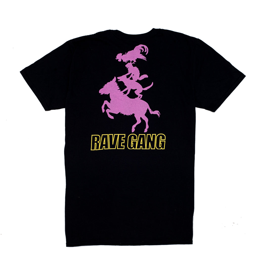 RAVE GANG BLACK T-SHIRT - ABSÜRE CLOTHING