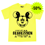 PAST LIFE REGRESSION NEON YELLOW T-SHIRT - ABSÜRE CLOTHING