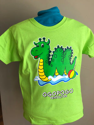 Lime Green Ogopogo T-Shirt - Penticton Visitor Centre