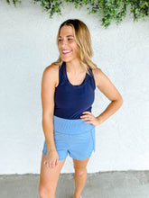 Jules Fleece Basic Burnout Crewneck - Tangerine