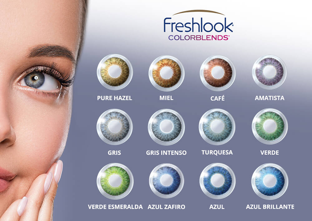 Freshlook colorblends Lentes de contacto de color neutros. Escoge entre los 9 colore. Compra en Lentematic tus pupilentes de color