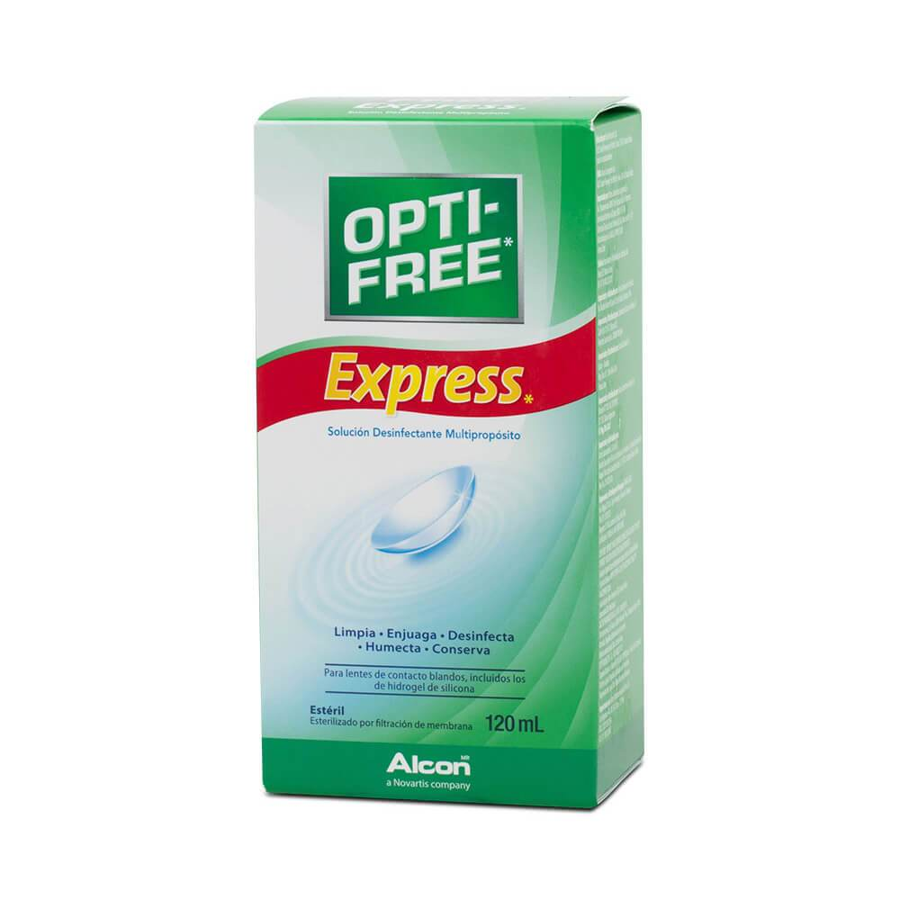 Opti-Free Pure Moist 120mL. Solución desinfectante multipropósito.