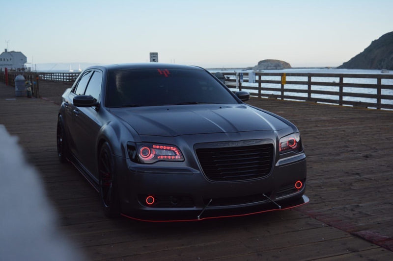 2010-2014 Chrysler 300 Custom Cut Design Front Splitter V1-V2