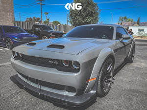 2019+ WIDEBODY Challenger Front Splitter V1 & V2 *CUSTOM CUT DESIGN* (Hellcat,Redeye,Demon and Scatpack)