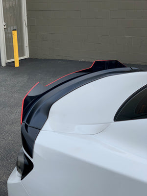 2016+ Chevy Camaro Blades Spoiler FULL TINT/ Solid Black Wicker Bill