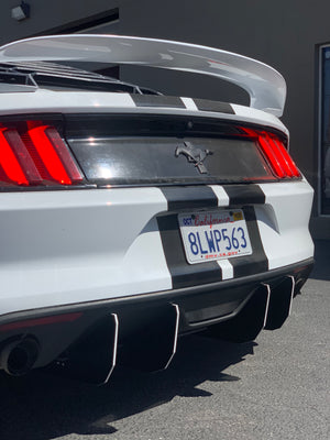 2015-17 Mustang V2 MIDDLE Piece ONLY Diffuser HoneyComb Design